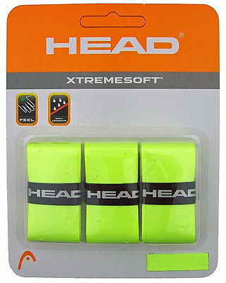 3 Head XtremeSoft Grips/Overgrips - Bright Yellow - Free P&P