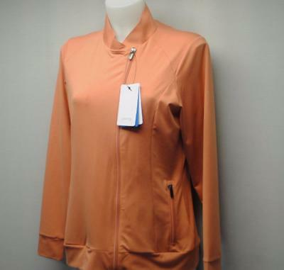 New Ladies Size US 12/LARGE PING Maya long sleeve full zip golf top Poly spandex