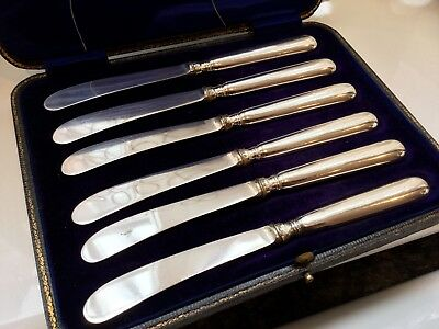 Antique A .d. Silver Plated And Sterling Silver Butter Knives For Scrap Or Use