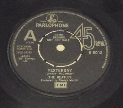 Rare Beatles Yesterday R6013 A Label Demo 1976
