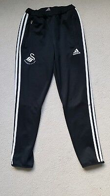 Boys Adidas Swansea City Football Training Pants Trousers Bottoms YL 12 Yrs