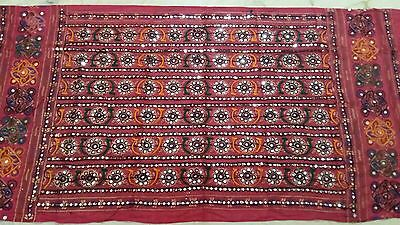 New Indian Rust Dupatta Cotton Hijab Wraps Kutch Embroidered Long Veil Scarf