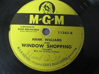 Hank Williams (Autographed?) 78 Rpm Record With Sleeve