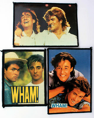 WHAM PATCHES 3 x Vintage Wham Sew-on Patches * George Michael *