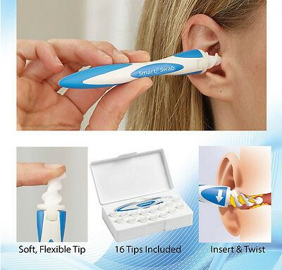 Soft Ear Cleaning Health Care Tools Ear Wax Remover With 16pcs Replacement Head