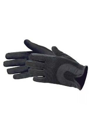 Horse Riding Gloves Ladies Dublin Track Fabric Gloves Leather Equestrian