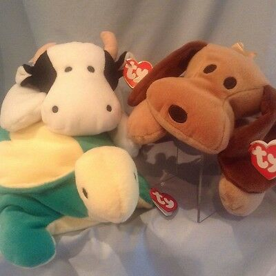 Ty Pillow Pals  Moo, Woof,  Snap 1994, 1994, 1996  Boys  Girls 3+ Retired $13