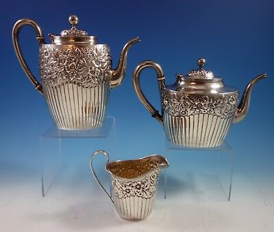 Hyperion by Whiting Sterling Silver Tea Set 3pc #2412C (#1730)