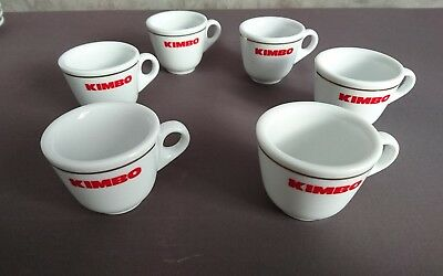 lot ensemble de 6 Tasses à café expresso KIMBO NEUVES
