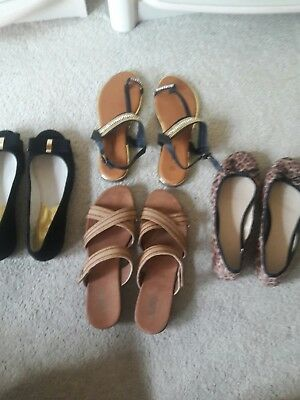 4 Pairs of  Size 7, Ladies Shoes, Pre-Owned