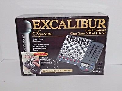 Excalibur Squire Portable Electronic Chess Game Book Gift Set New Rare HTF (31)