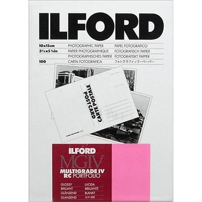 "Ilford Multigrade IV RC Portfolio Postcard Paper 4x6"" Glossy 100 Sheet (1834846)"
