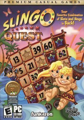 SLINGO Quest by Gamezebo for PC - Bingo Slots Cards - New In Box