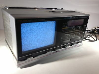 R673 - Vintage Dixons Saisho TCR400 b/w Portable TV and Radio -Unboxed - Working