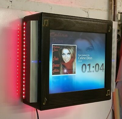 Digital Touchscreen Jukebox with Speakers, Led Lights & Built-in Cd rip