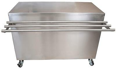 """BK Resources SECT-3060S 60""""x30"""" Stainless Steel Serving Counter w/ Sliding Door"""