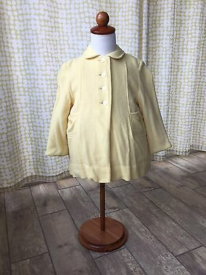 Vintage 50s Yellow Kute Kiddie Jacket Bonnet Southern Belle Classic Set Lot