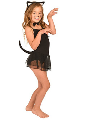 Kid's Cat Costume Accessory 3 pc Set: Cat Ears, Tail, Bow Tie NEW