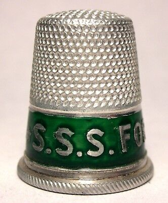 Unique Aluminum Advertising Thimble - S.S.S. FOR THE BLOOD c.1920s