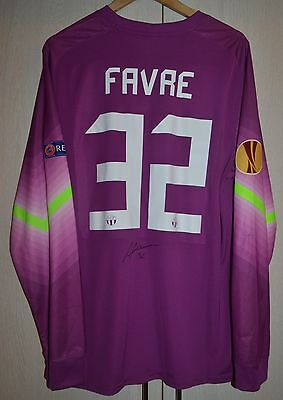 Zurich Switzerland Match Worn Issue Goalkeeper Football Shirt Jersey #32 Favre