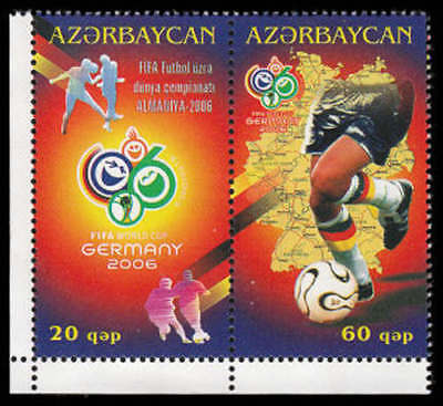 Azerbaijan #826a-b MNH - 2006 World Cup (soccer, football)