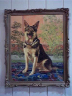 Oil Painting of an Alsatian Dog , signed by the Artist , circa 1980's