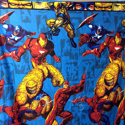 Marvel Heroes Duvet Cover Twin Size Comic Book Superheroes Spider Man Avengers