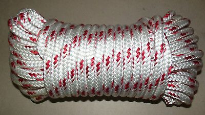 "NEW 1/2"" (12mm) x 90' Double Braid Sail/Halyard Line, Jibsheets, Boat Rope"