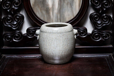 18th or Later Chinese Antique Ge-Typed Handled Vase ETR86