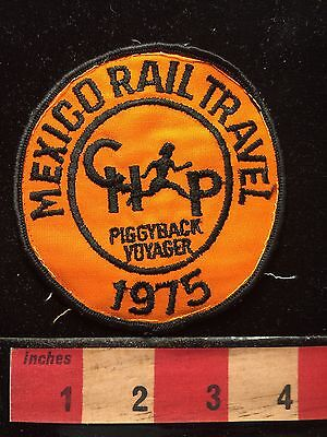 Vtg 1975 Piggyback Rail Travel Mexico Train ~ Piggyback Voyager Patch 68E1