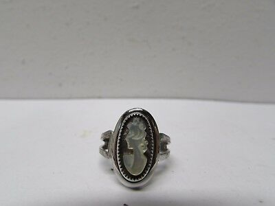 """Vintage Ladies Sterling Silver """"Cameo"""" Style Ring-Sarah Coventry"""