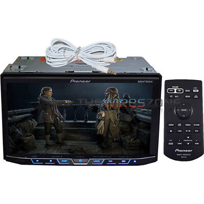 """Pioneer AVH-X490BS 7"""" 2-DIN DVD iPhone USB Bluetooth Car Stereo + Free AUX Cable"""