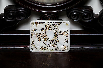 Ming Style Chinese Antique White Jade Belt Buckle ETR162