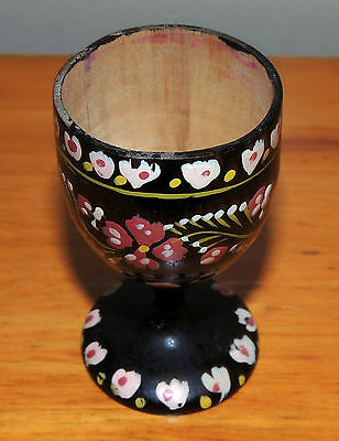 Wooden Egg Cup - hand painted