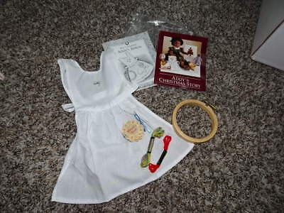 New Pleasant Company American Girl Addy Needlework Kit Apron