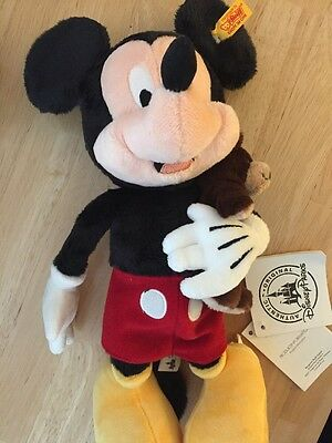 Disney Steiff Mickey Mouse Plush NEW With Tags