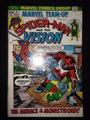 Marvel Team Up #5 (1972) FN+ (1st appearance of Mandroid)