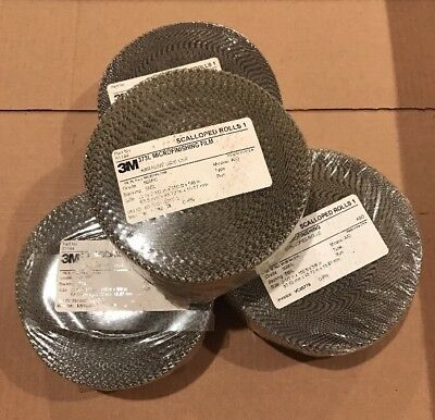 NEW 1 Case 3M 373L Microfinishing Film 4 Scalloped Rolls 2.5,150ft,5/8, 50 MIC