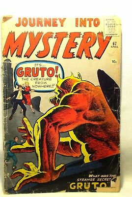 Journey Into Mystery #67 Apr 1961 Comic Book Silver Age