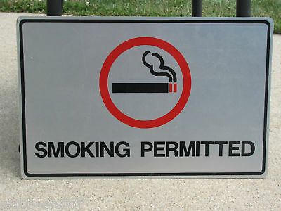 Smoking Permitted Tin Advertising Sign Cigarettes Politically Uncorrect