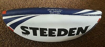 Steeden NRL Official Full Size 5 Rugby League Football NSW in plastic