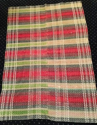 "Antique Americana Overshot Two Piece Partial? Blanket 44x60"" USA ONLY NR"