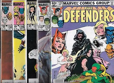 The Defenders Lot Of 5 - #123 #125 Giant-Sized #127 #129 #130 (Vf) Copper Age