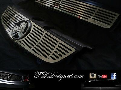 Holden VE Series 2 Custom Grill Polished Stainless Steel FLD Slat Grill ss ssv