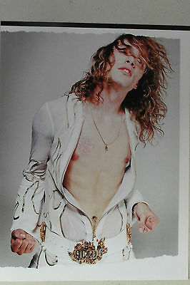 THE DARKNESS Justin Hawkins Full Page Pinup magazine clipping white flame coat