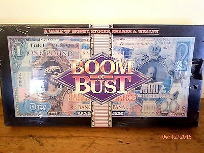 ~Vintage Boom Or Bust Board Game - Sealed & Unused-Money, Stocks, Shares, Wealth