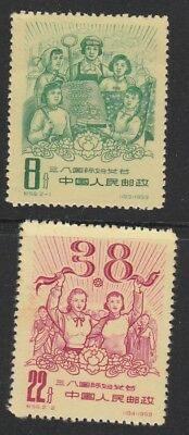 China. Peoples Republic.1959 International Women Day set of 2 Mint Stamps