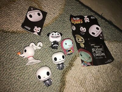 Lot of 5 Funko PSH Pint Size Heroes Disney Nightmare Before Christmas Figure