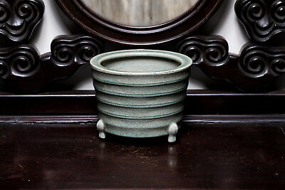 Ming Style Chinese Antique LongQuan Porcelain Censer ETR760