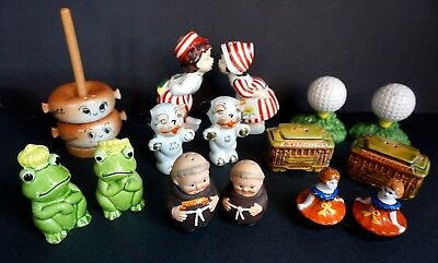 8 Vintage Salt & Pepper Shakers W, Germany Japan Enesco Ucago